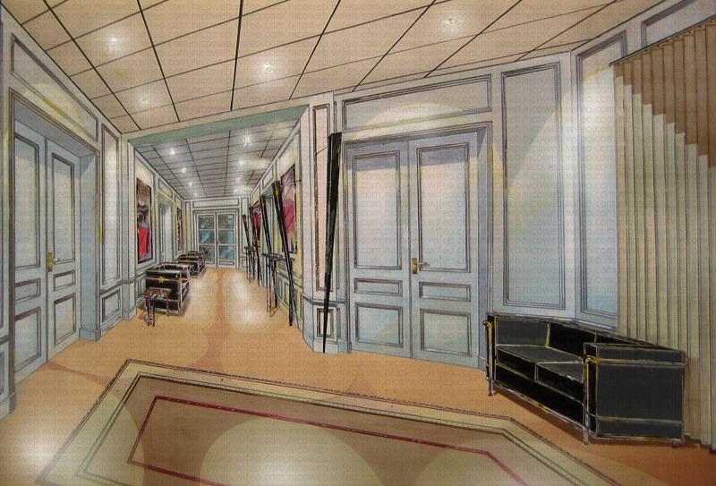 Aménagement d'un hall d'accueil d'une compagnie d'assurances à Paris